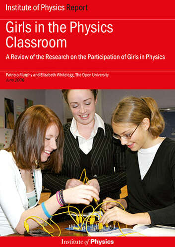 Cover image for Girls in the Physics Classroom report