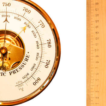Image of a barometer and ruler