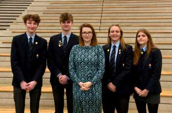 Kirsty Williams visits Monmouth Comprehensive School in Wales