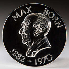 Medal reads: Max Born 1882 to 1970