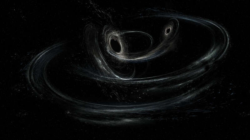 Black space white gravitational waves