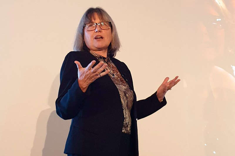 Professor Donna Strickland gives a public lecture