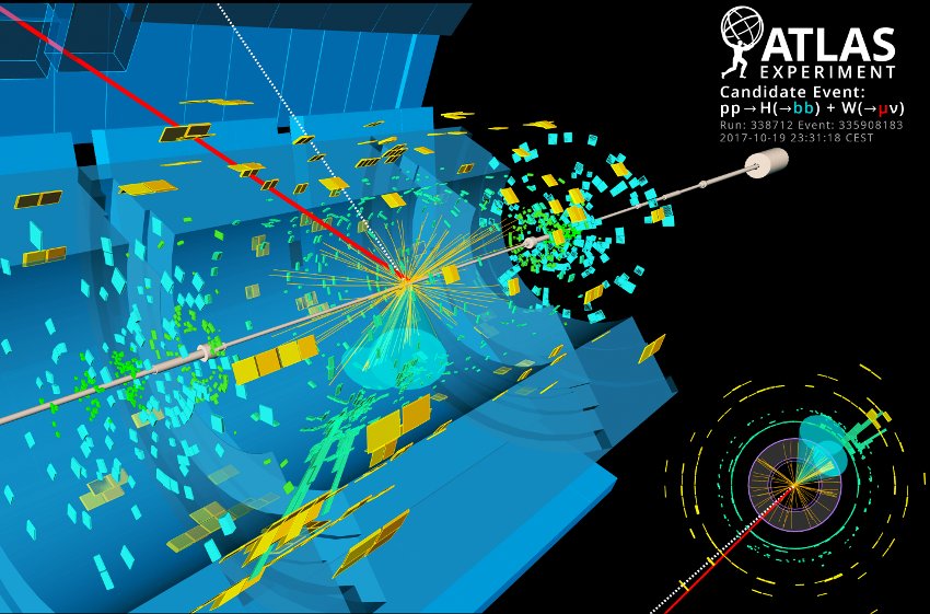 Display of one of the most signal-like collider events