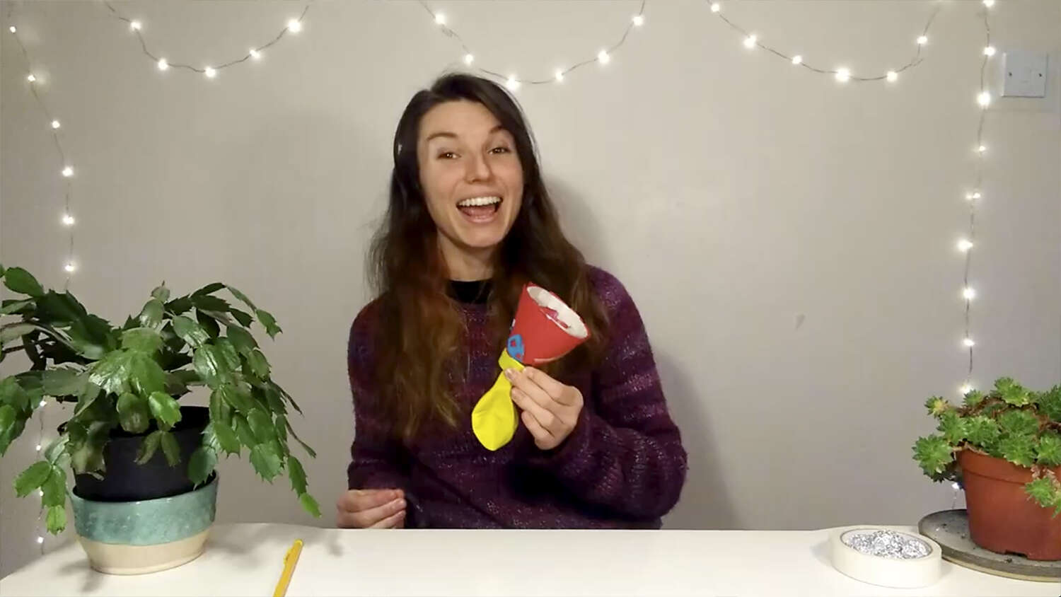 Launch our own snowballs in this family-friendly science experiment with Imogen and Sam