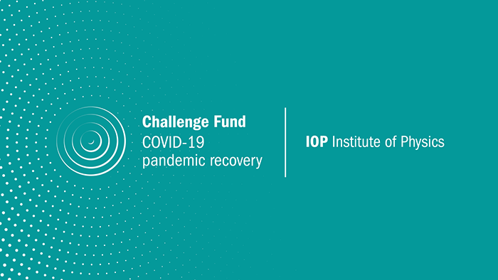 Logo: IOP Challenge Fund COVID-19 pandemic recovery, Institute of Physics